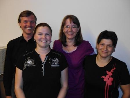 Vorstand des Fördervereins 2013 - 2015. Edgar Hecht, Manuela Beyer-Spahn, Nicole Huber-Schnier, Atike Petzold.
