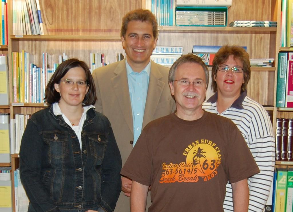 Vorstand des Fördervereins - 2011. Bärbel Scherle, Klaus Kustermann, Roland Gumbart, Sabine Danzer