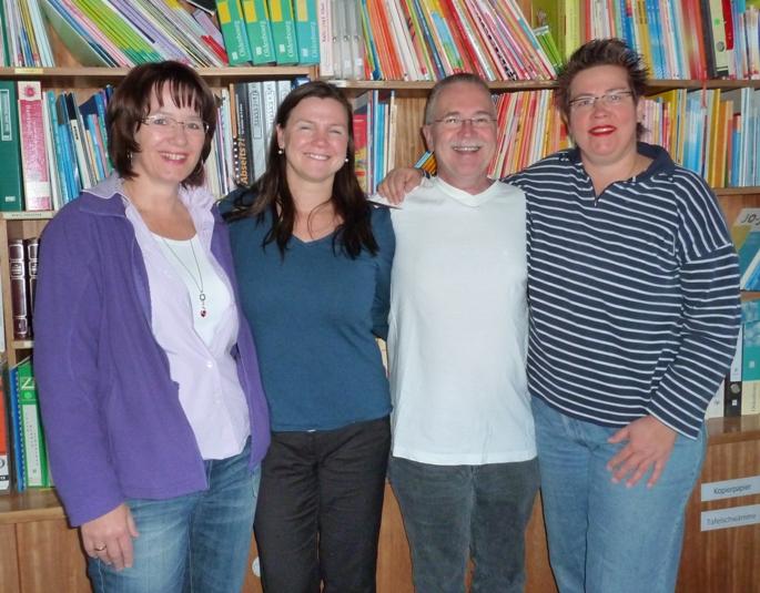 Vorstandsmitglieder des Vordervereins von 2011 bis 2013. Nicole Huber-Schnier, Manuela Beyer-Spahn, Roland Gumbart, Sabine Danzer